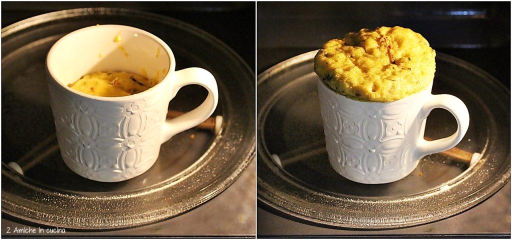 Torta in tazza salata nel microonde