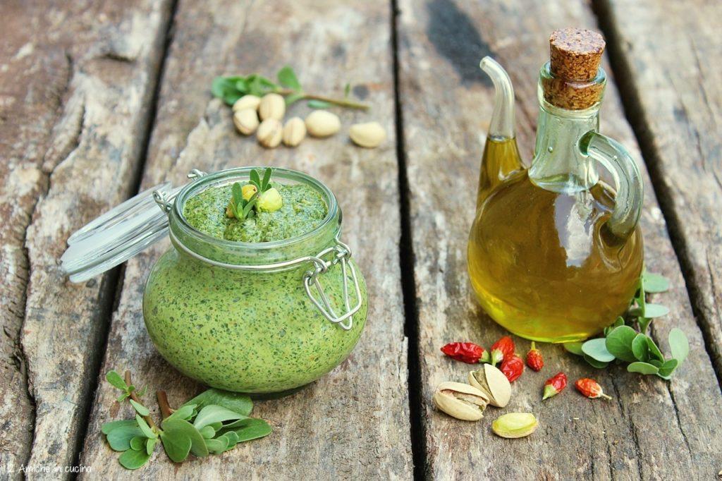 Pesto di portulaca e pistacchio