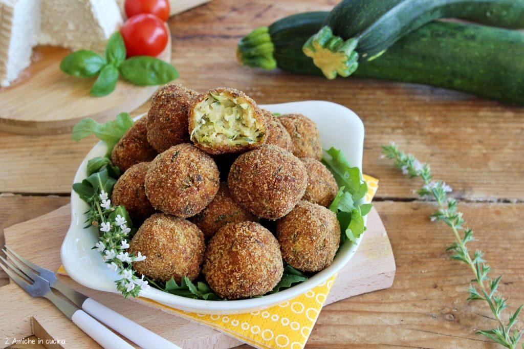 Polpette di zucchine e ricotta vegan