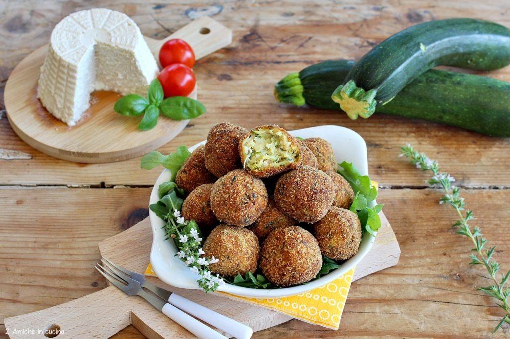 polpette di ricotta vegan e zucchine