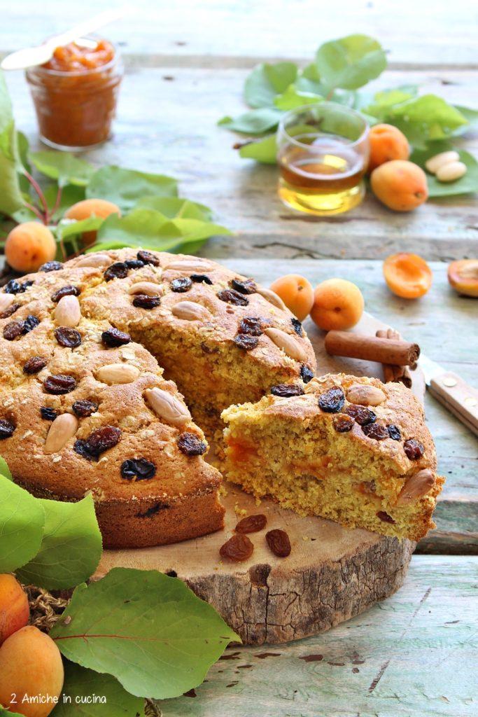 torta soffice con fiocchi di avena e confettura di albicocche