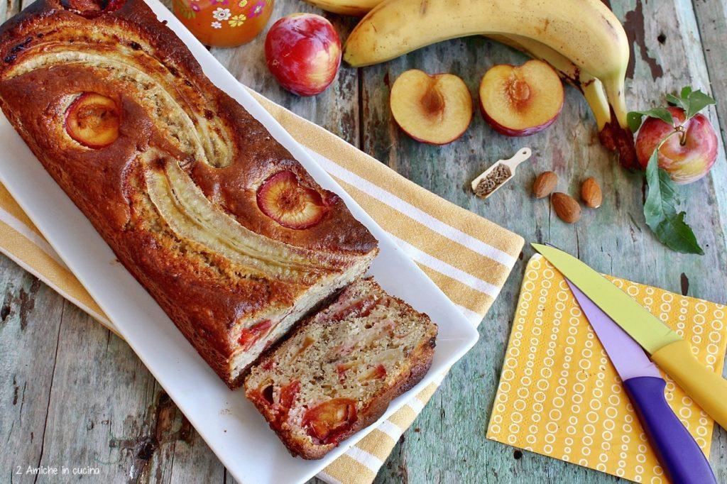 banana bread alle prugne senza lattosio