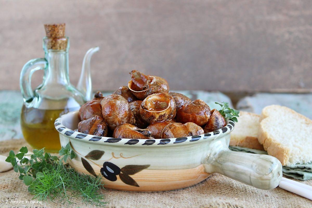 Lumache al sugo di pomodoro e erbe aromatiche