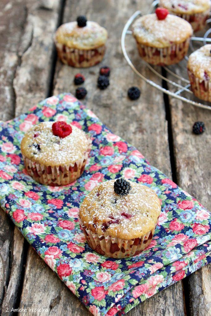 muffin vegan con frutti rossi