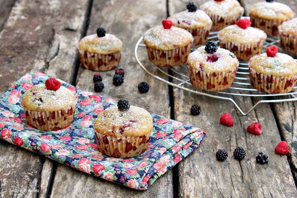 Muffin vegan more e lamponi