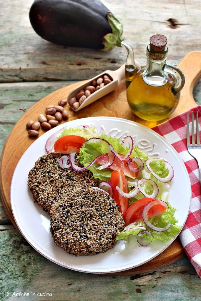 polpette vegan con melanzane e legumi