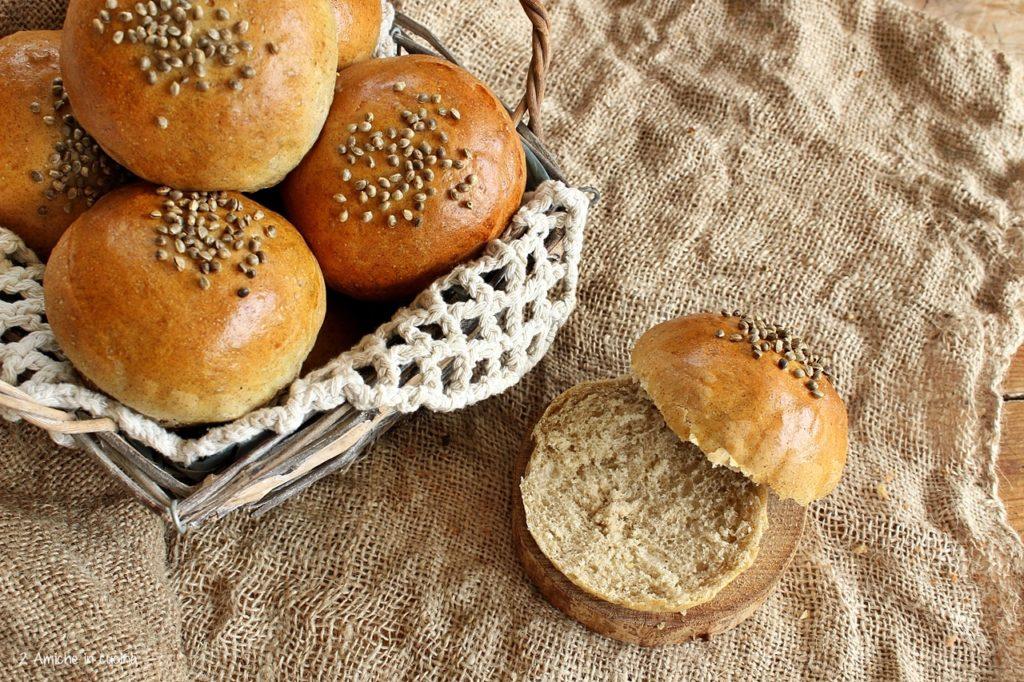 Interno del panino alla canapa