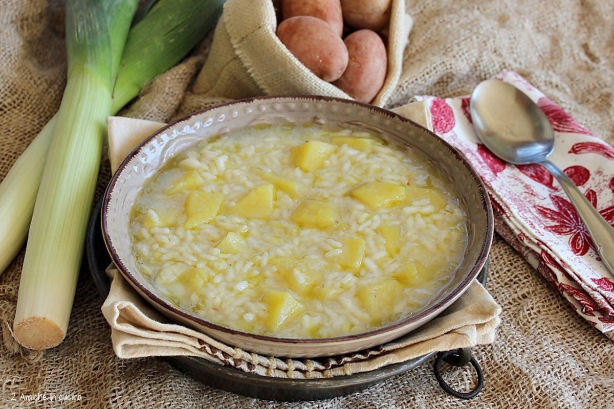minestra di riso porri e patate di Colfiorito