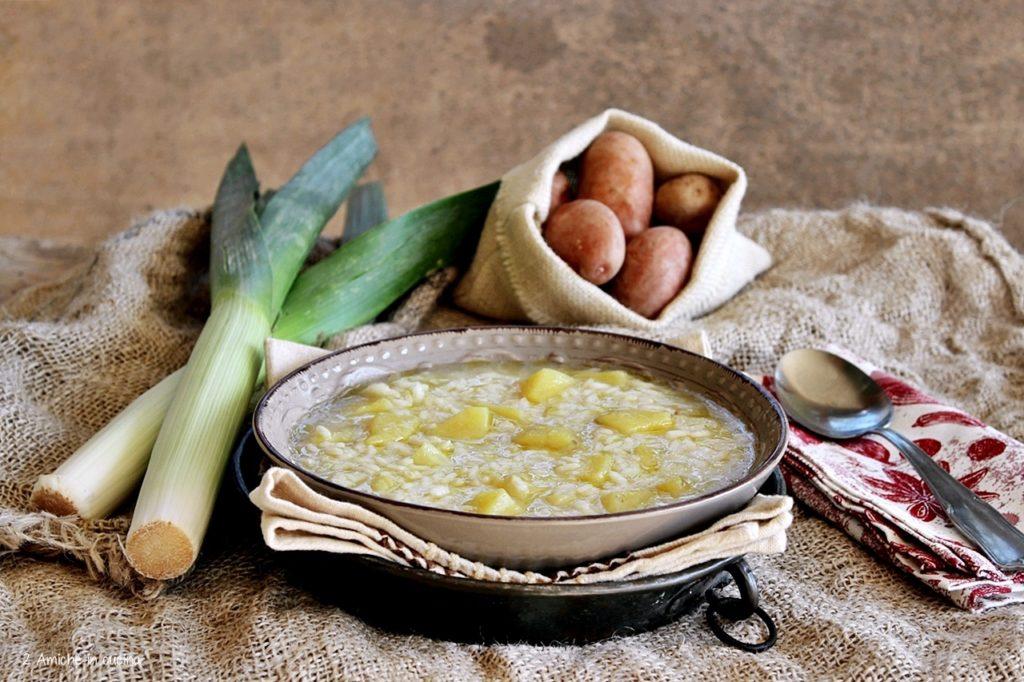 minestra autunnale con porri