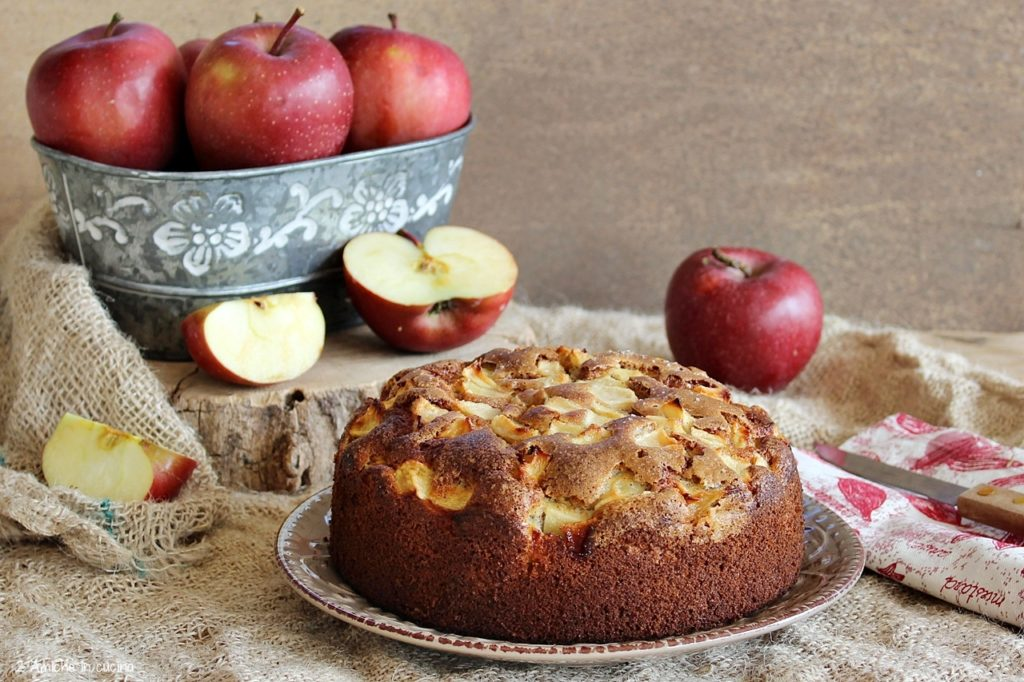 Torta di mele con farina di roveja
