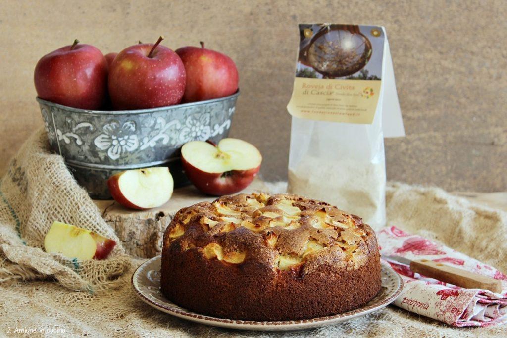torta di mele con farina di roveja di Civita di Cascia, presidio Slow Food Umbria