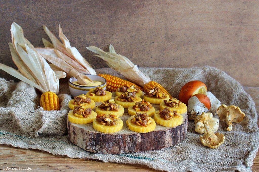 Finger food rustico con polenta