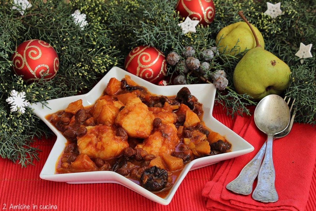 Baccalà con uvetta, prugne e pera, ricetta della Vigilia di Natale tipica umbra