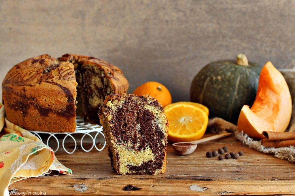 Chiffon cake alla zucca e cacao