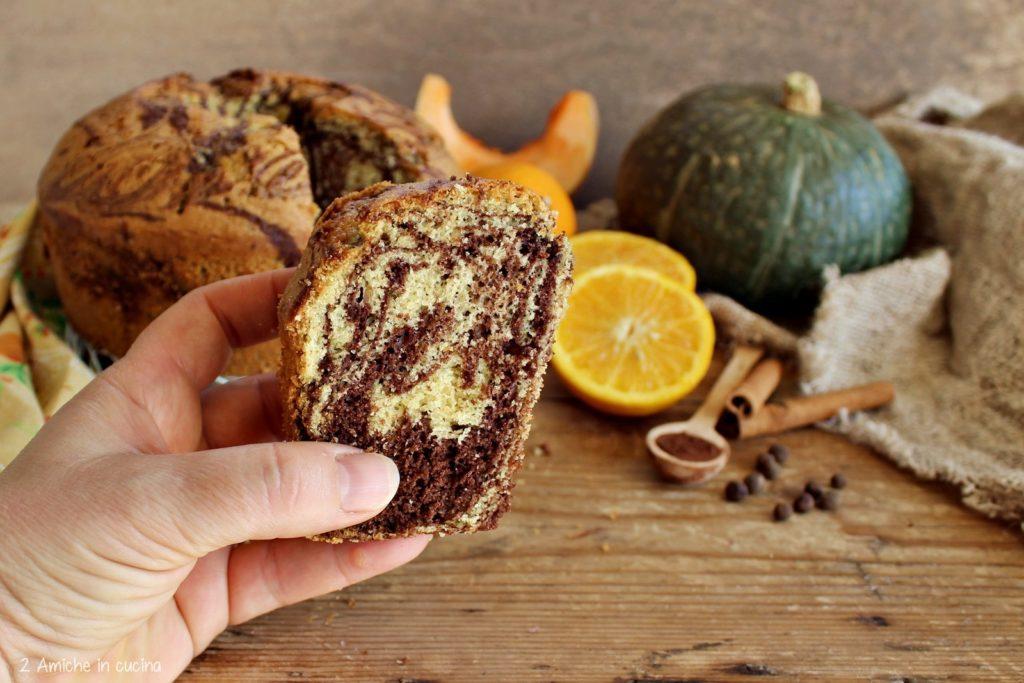 chiffon cake zucca e cacao