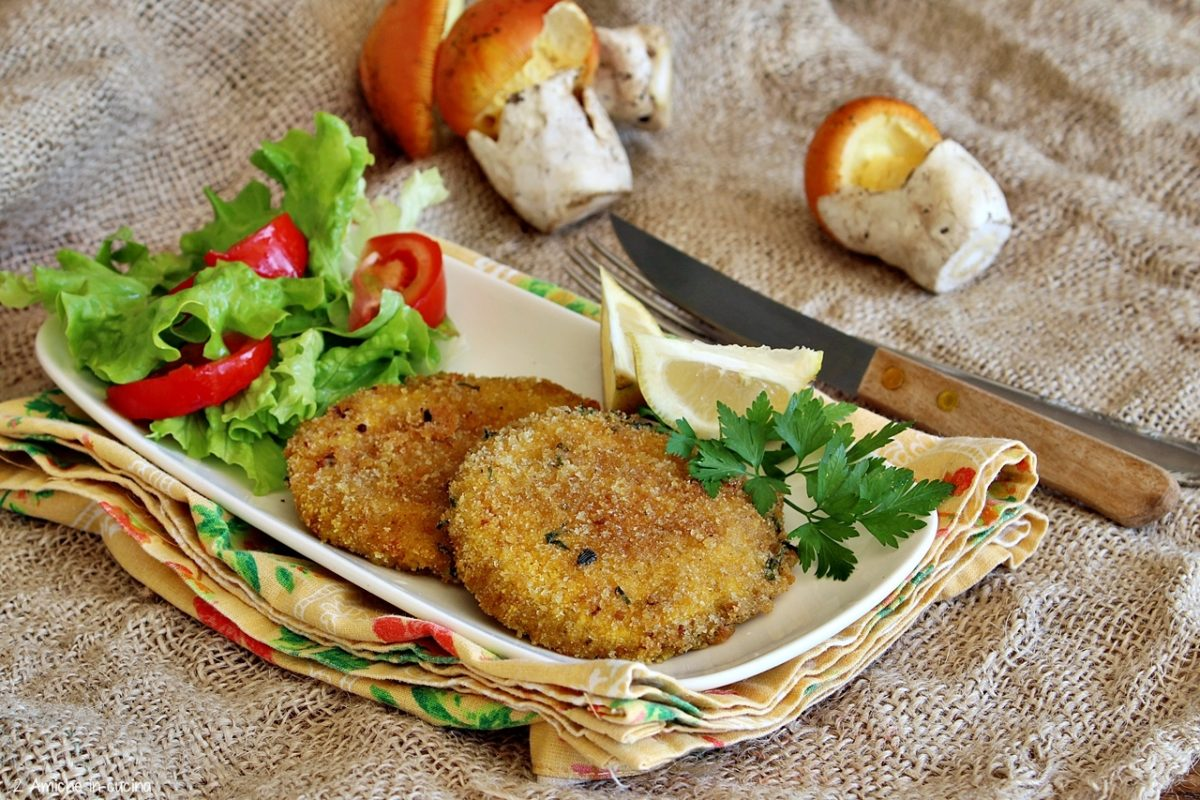 Cotolette vegetali in forno