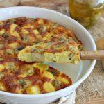 Frittata al forno con patate e carciofini