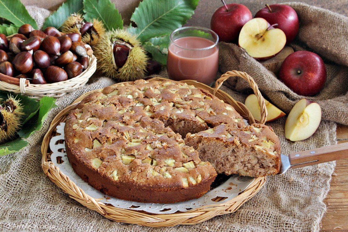 Torta di mele e castagne senza glutine e senza lattosio