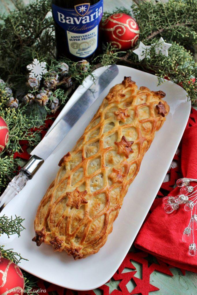 Torta salata per Capodanno, con lenticchie e cotechino