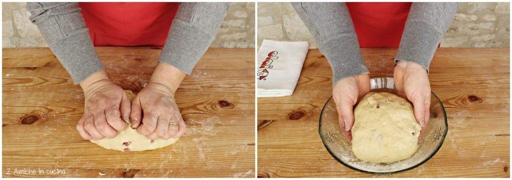Preparazione delle ciambelle al formaggio e spianata romana Clai