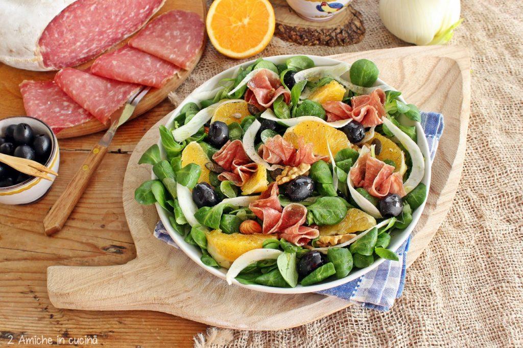 Insalata con frutta secca, semi e salame Bellafesta Light Clai