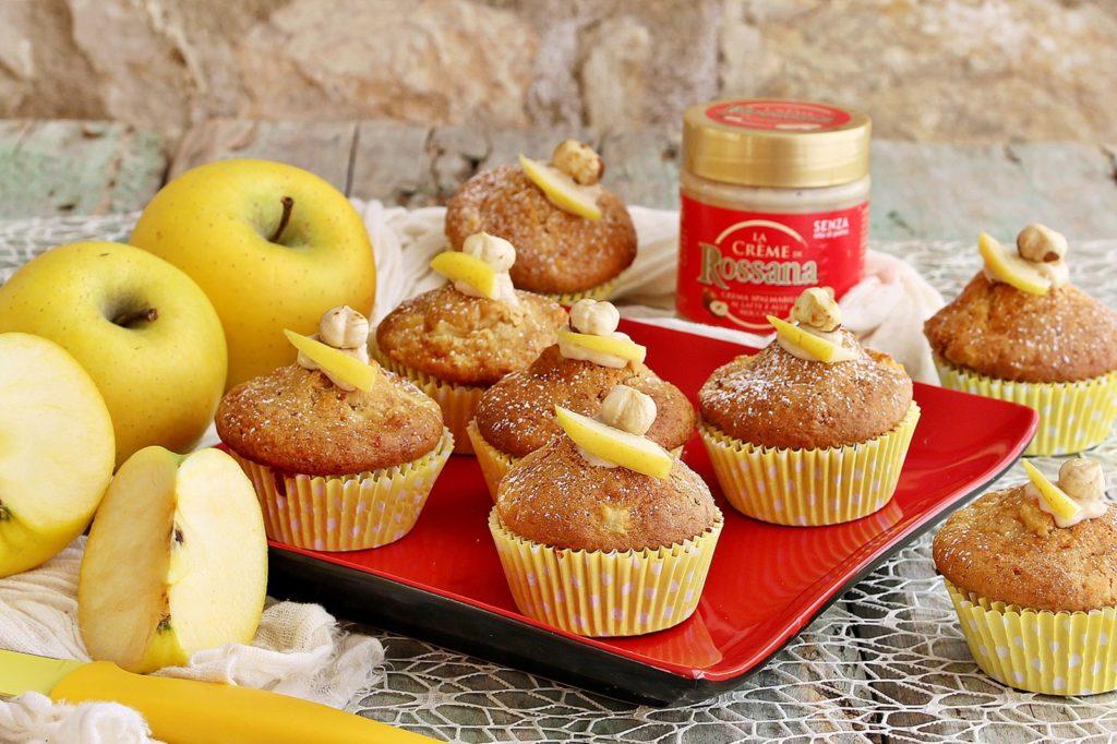 Muffin mele e crema Rossana