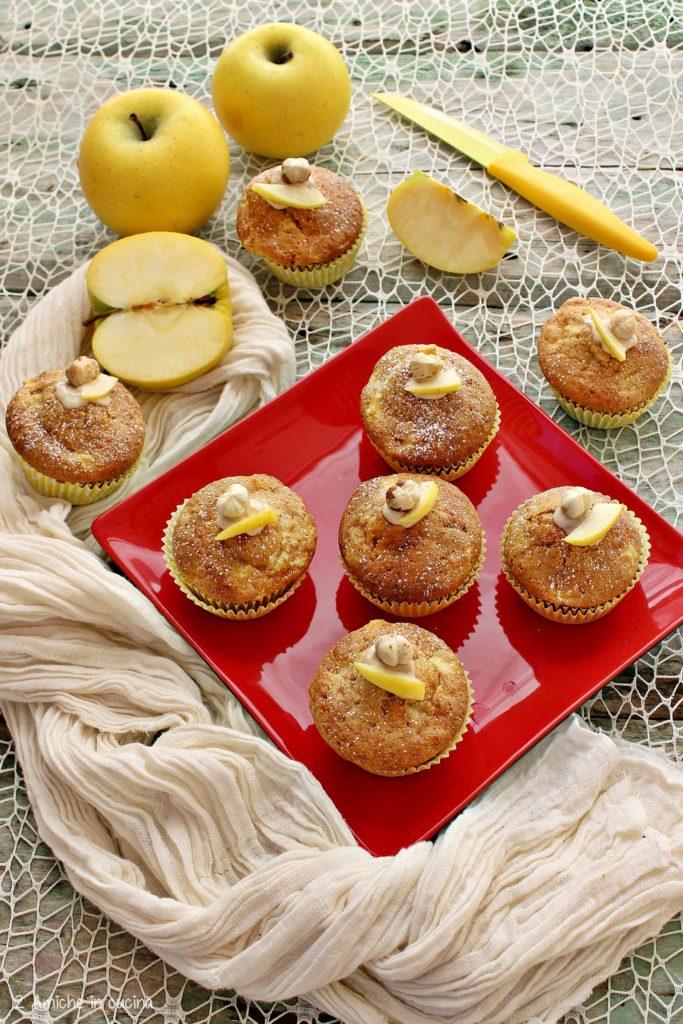 Muffin soffici alle mele e crema Rossana