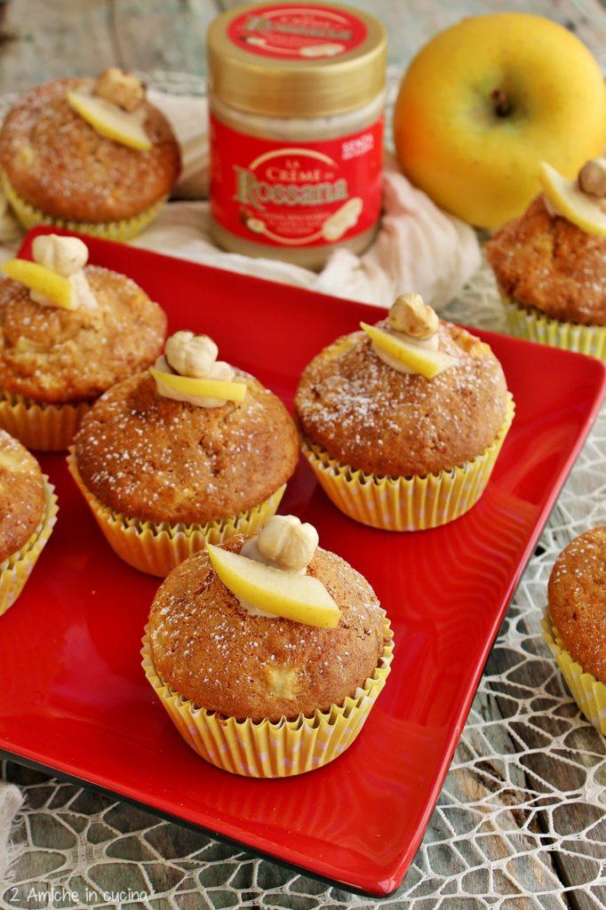 Muffin alla crema Rossana e mele
