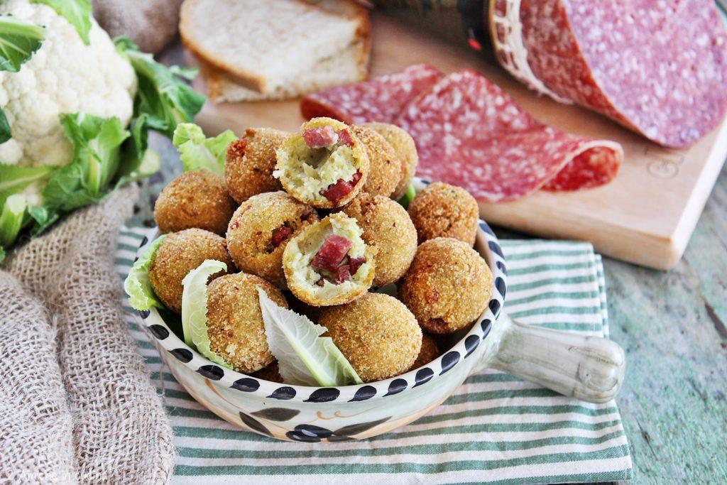 Polpette di pane raffermo e foglie di cavolo con Salame Milano CLAI