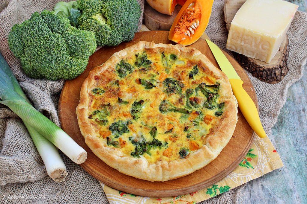 Torta salata con zucca, broccolo e formaggio Piave DOP per Nice to Eat-EU