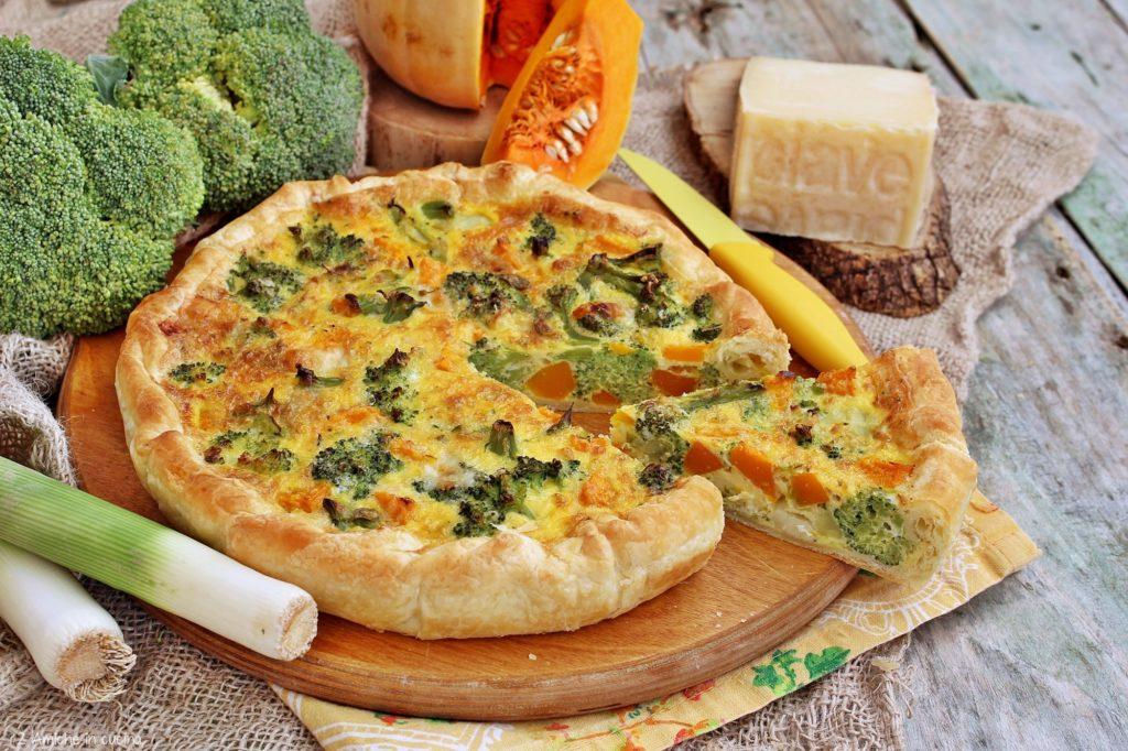 Torta salata con verdure e formaggio Piave DOP