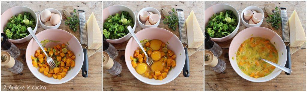 Preparare la torta salata formaggio e verdure