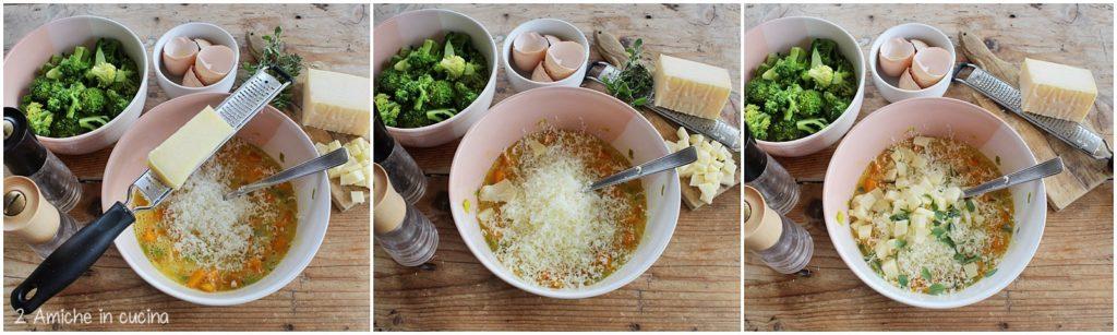 Ripieno per torta salata alle verdure e formaggio