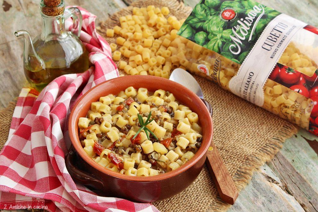 pasta e patate con cubetto la Molisana