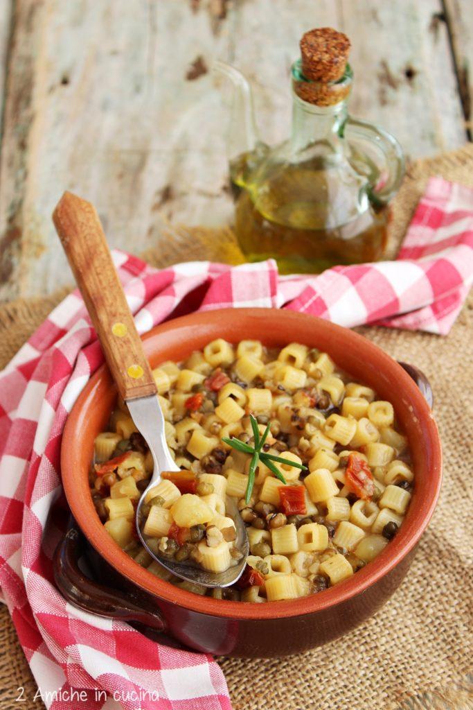 pasta e patate con fagioli