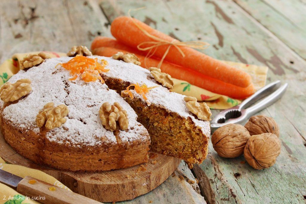 Torta di carote senza lattosio