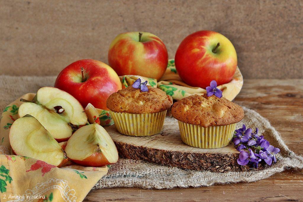 Muffin alle mele e violette