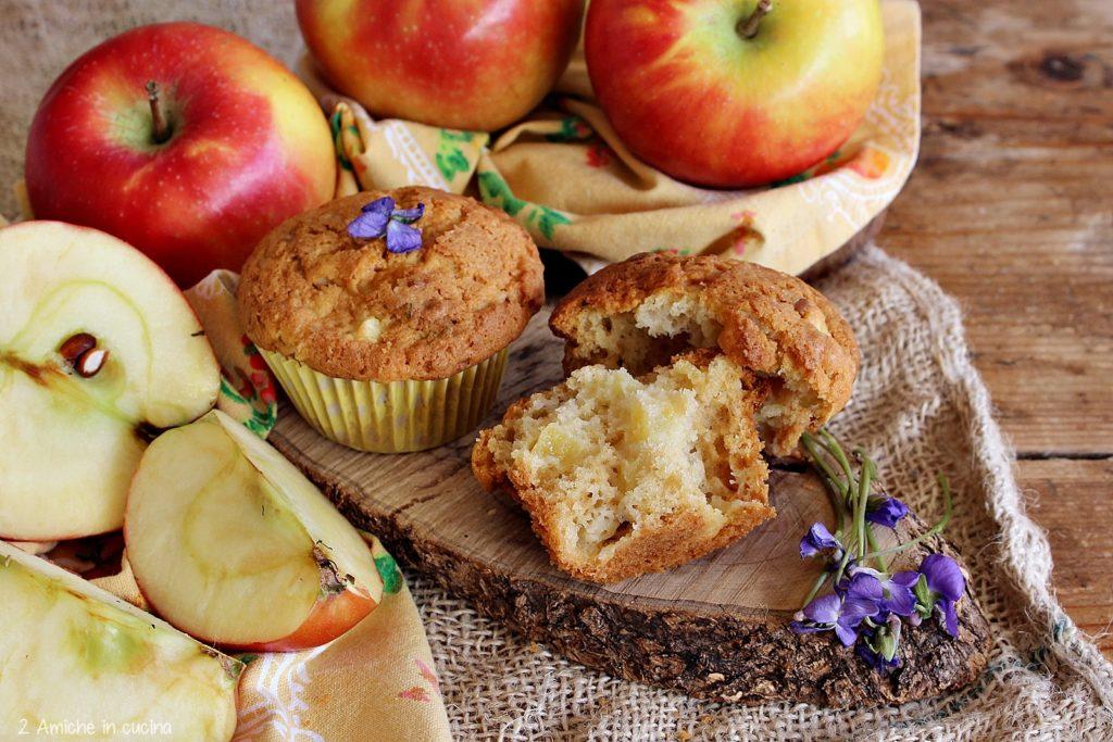 muffin soffici alle mele e fiori di campo