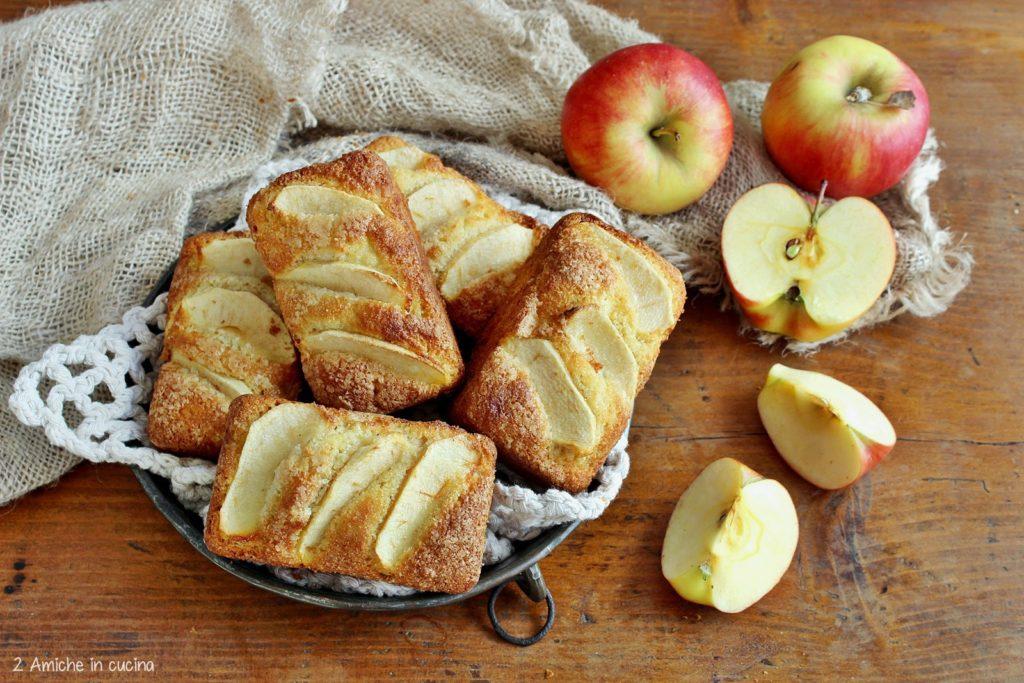 Plumcake per la colazione senza glutine con mele e farina di fonio