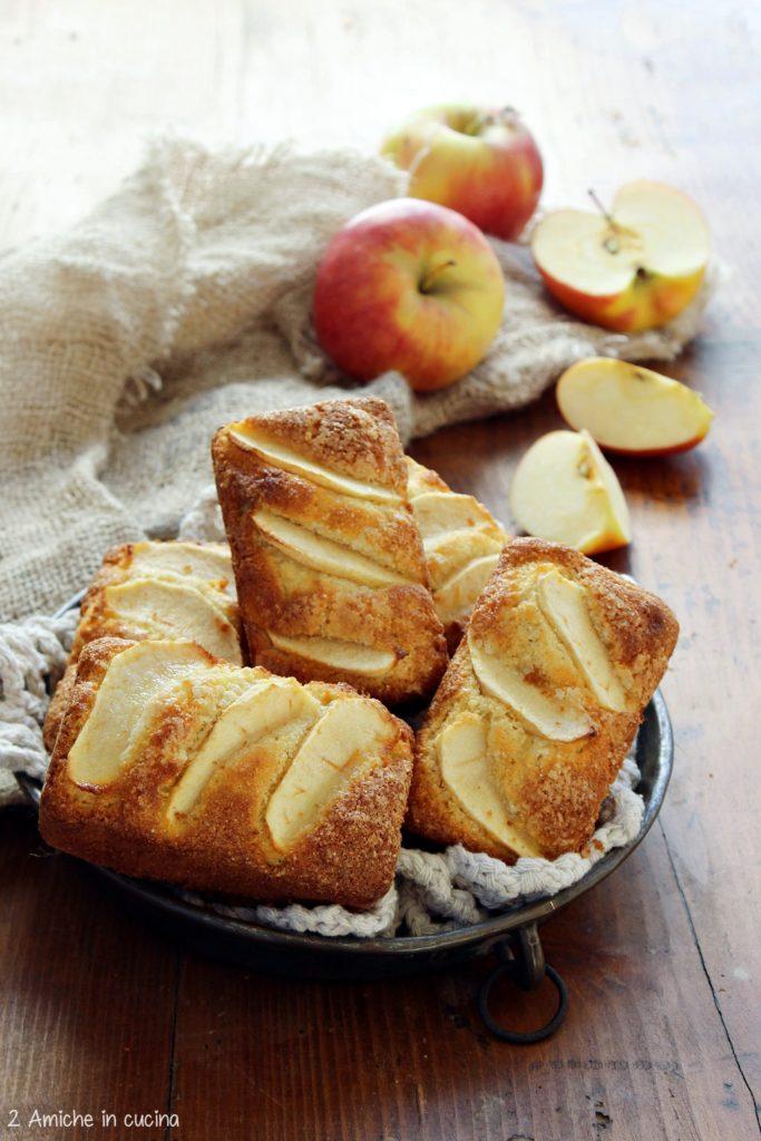 Mini plumcake alle mele con farina di fonio Obà