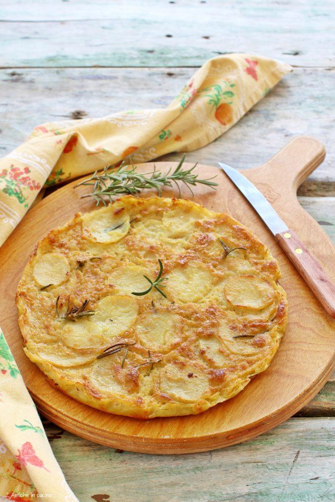 Farinata vegan con patate al rosmarino