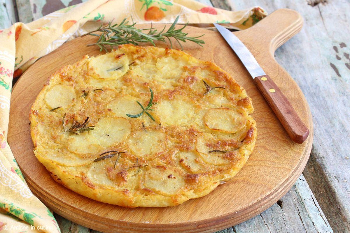 farinata alle patate e rosmarino