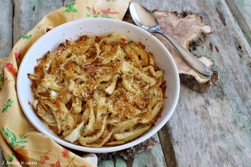 Foglie di scarto dei finocchi gratinate in forno senza besciamella