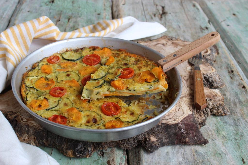 Farinata di ceci con carote e zucchine