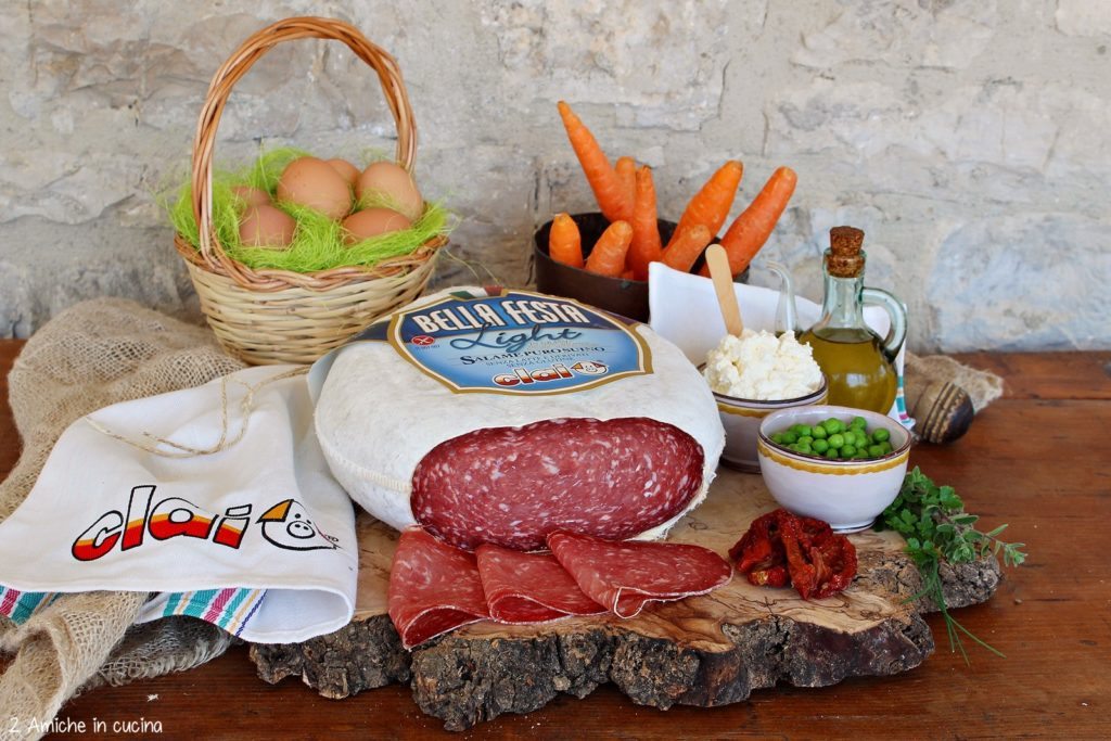 Salame Bellafesta light con verdure estive