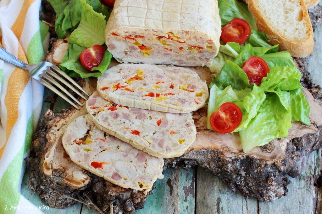 galantina con i peperoni, rivisitazione delle ricetta tipica umbra