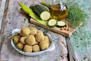 Polpettine vegan con ceci e zucchine
