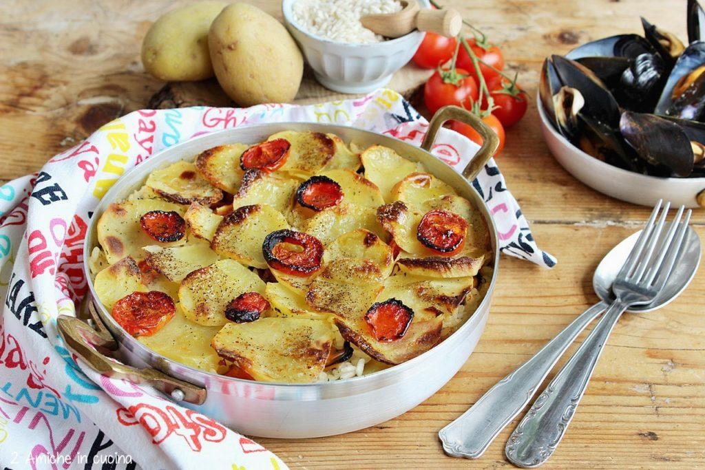 Riso patate e cozze, piatto tipico della cucina pugliese