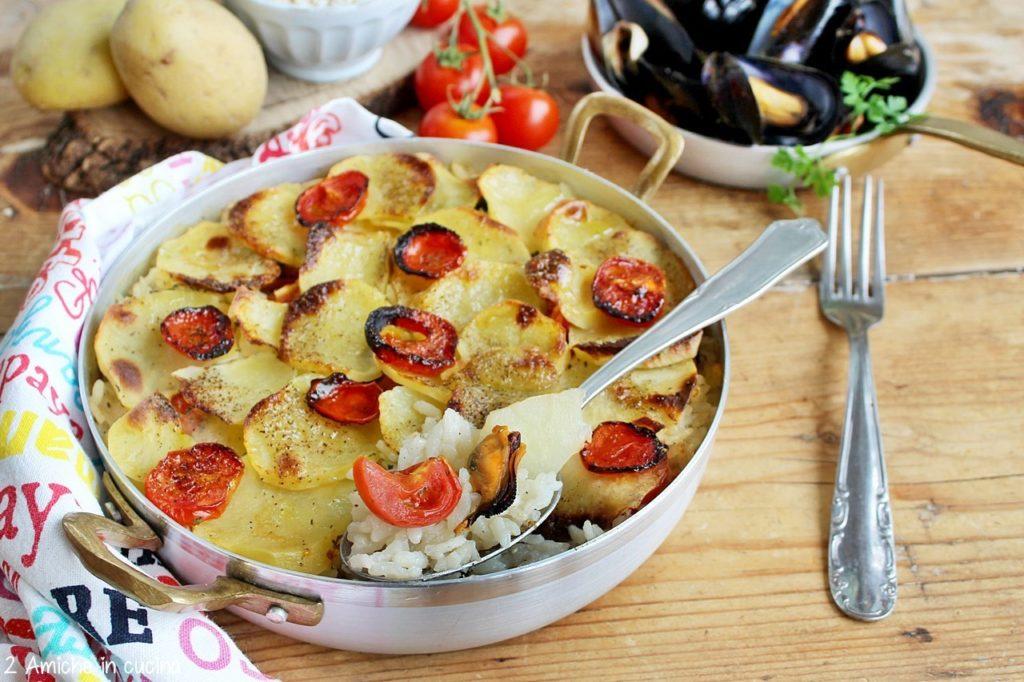 Tiella barese, riso patate e cozze