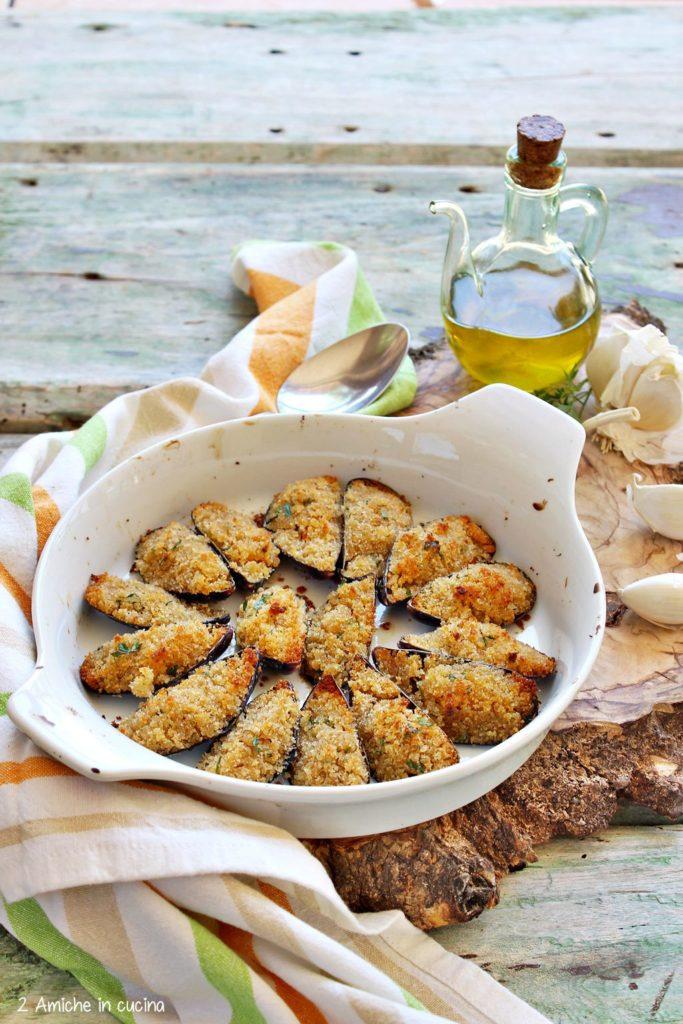 Teglia di cozze gratinate al forno